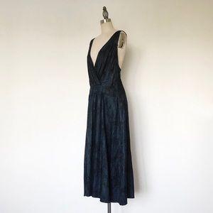 MARC JACOBS | Navy Blue Silk Printed Midi Dress